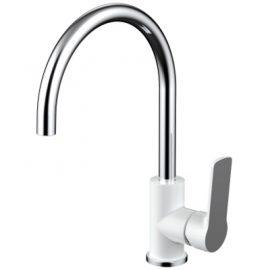Akemi Sink Mixer White & Chrome