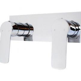 Akemi Dual Shower Mixer Black and Chrome