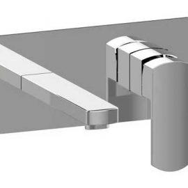 Konti Wall Mounted Basin Mixer Chrome