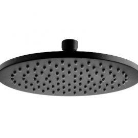 Akemi Round Overhead Shower 200mm Black