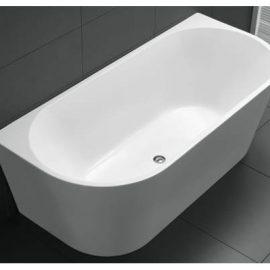 Kiato Freestanding Wall Faced Bath 1500mm White