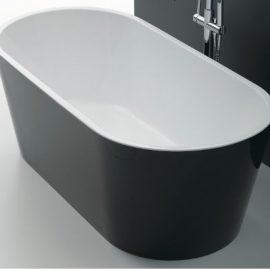 Akemi Freestanding Bath 1500mm Black/White