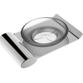 Celine Glass Soap Dish Chrome