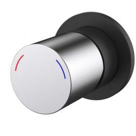 Finesa Shower Mixer Black & Chrome
