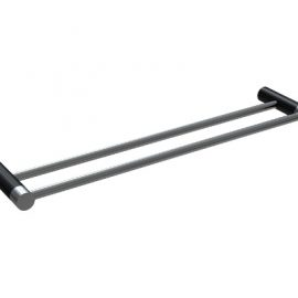 Finesa Double Towel Rail 600mm Chrome & Black