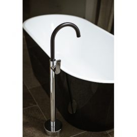 Akemi Bath Filler Mixer Chrome & Black