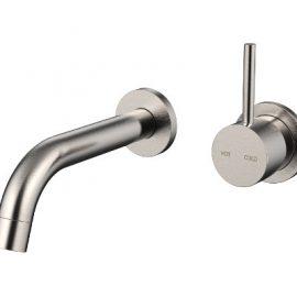 Cioso Wall Basin Mixer – No Plate – Brushed Nickel