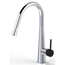 Sonix Pullout Sink Mixer Chrome & Black