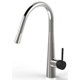 Sonix Pullout Sink Mixer Nickel Plated & Black